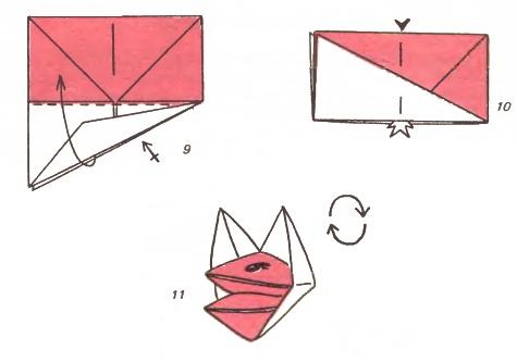 Как сделать двигающийся рот из бумаги