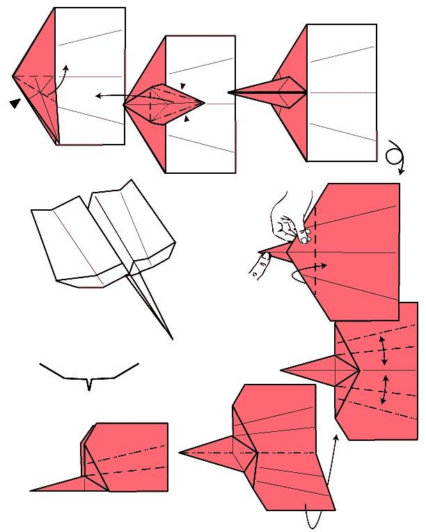 Самолёты из бумаги своими руками как делать 6