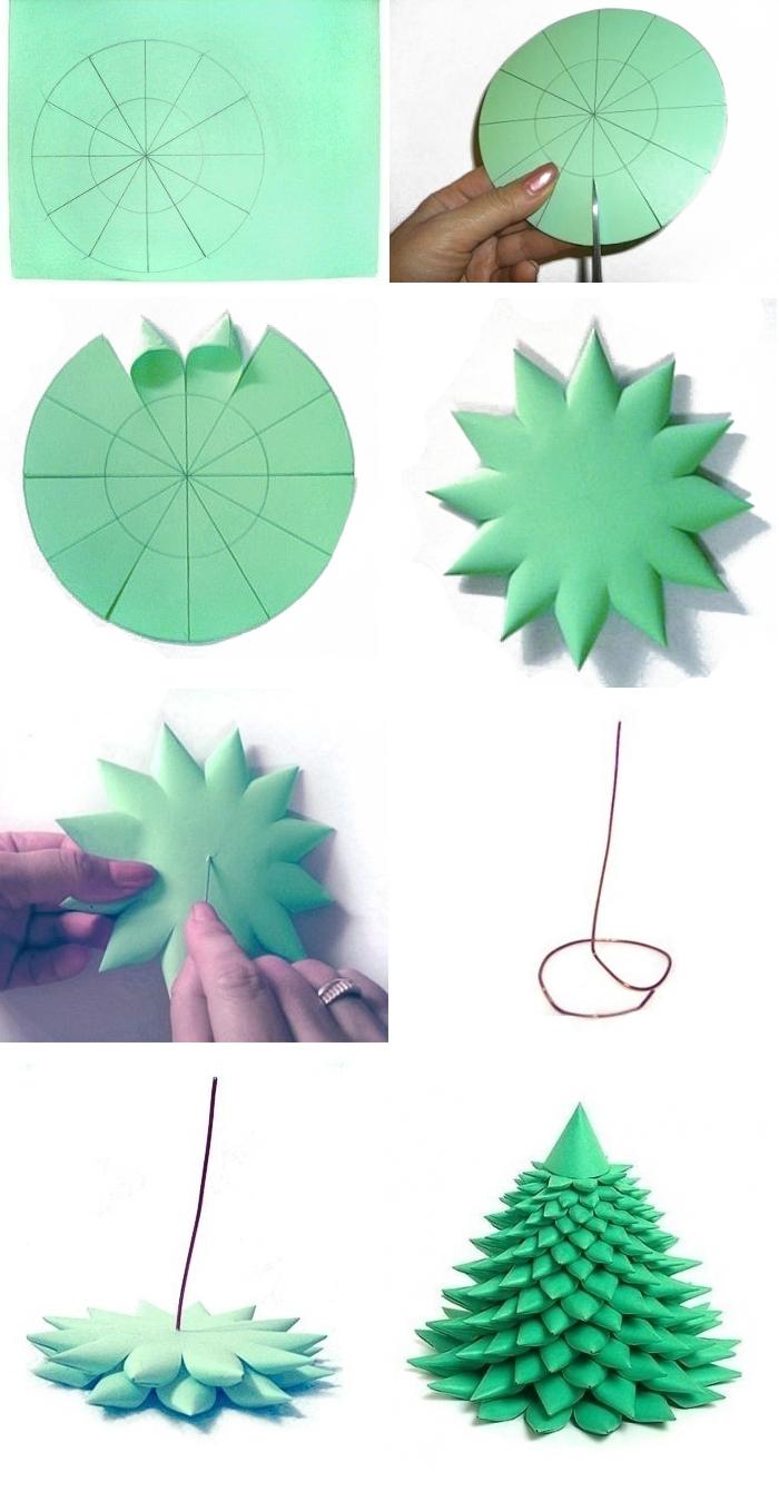 Как сделать объёмную ёлочку своими руками